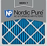 Nordic Pure 12x12x1M7-6 MERV 7 Pleated AC Furnace Air Filter,...