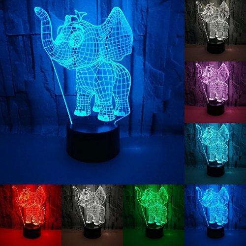 JAYLONG 3D Visual Creative LED Lamp 3W For Kids Night Lights Little...