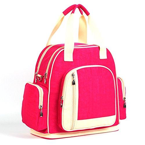 Las mujeres embarazadas salen paquete, bolso de la momia, salen el bolso, bolso de la madre, bolso multi-funcional del bebé del hombro, bolso femenino de la gran capacidad ( Color : Azul oscuro ) Rosa Roja