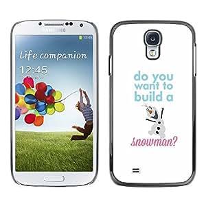 Paccase / SLIM PC / Aliminium Casa Carcasa Funda Case Cover - Winter Text White Kids Children - Samsung Galaxy S4 I9500