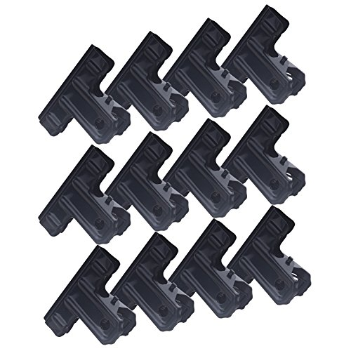 Zicome Black Metal Bulldog Clips Binder Clips for Office Supplies, 2 Inch, 12 Pack (Metal Clips Black)