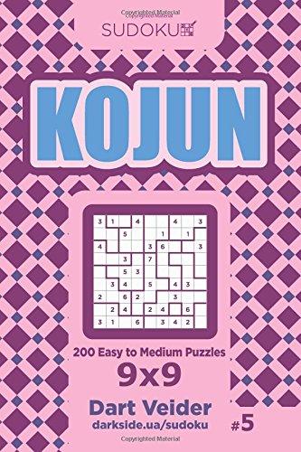 Sudoku Kojun - 200 Easy to Medium Puzzles 9x9 (Volume 5) pdf