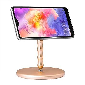 Soporte para teléfono celular para escritorio, Rotación de 360 ...
