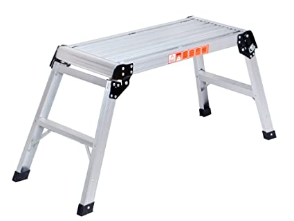 Tms 20 Inch High Aluminum Platform Folding Work Bench Drywell Step