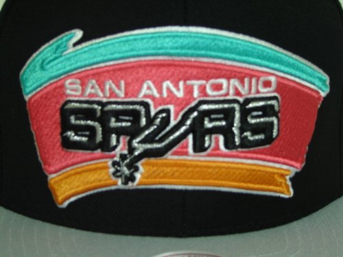Mitchell and Ness NBA San antonio Spurs 2Tone Big Logo Snapback Cap