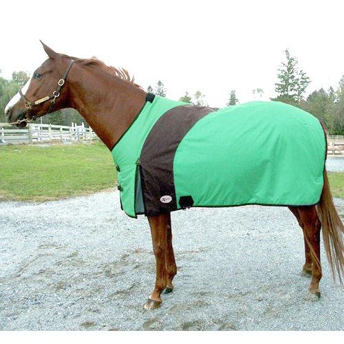 "Exselle Prima Draft Horse Turnout Blanket - Emerald - 98"""