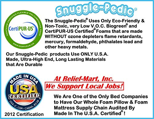 Supreme Plush Ultra-Luxury Allergy Friendly Bamboo Shredded Gel-Infused Memory Foam Pillow Combination with Adjustable Fit & Zipper Removable Kool-Flow Cooling Pillow Cover (Queen)