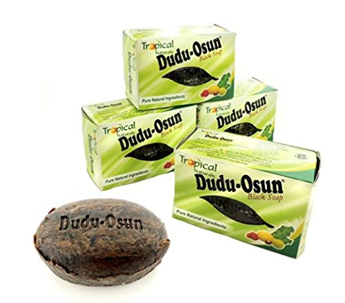 Dudu Osun Pure Organic African Black Soap 150g(Pack of 3) - Effective for Acne Treatment, Eczema, Dry Skin, Scar Removal, Dandruff, Pimples Mark Removal, Anti-fungal Face & Body -