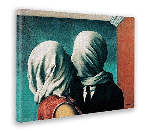 GIALLO BUS - BILD - DRUCK AUF LEINWAND - RENE MAGRITTE - DIE LIEBEN - 70 x 100 CM