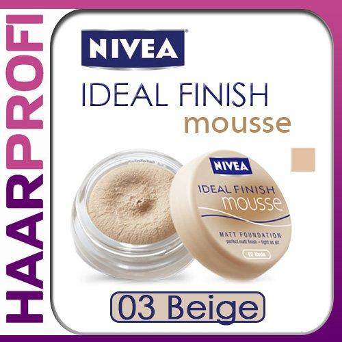 Nivea Ideal Finish MOUSSE 03 BEIGE Matt Foundation Make-up
