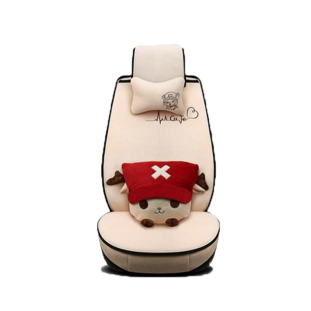 Auto Accessories Car Seat Cover Cartoon Four Seasons Women's Cushion, Beige, A