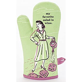 Blue Q My Favorite Salad Oven Mitt Green,4x12.5 inch
