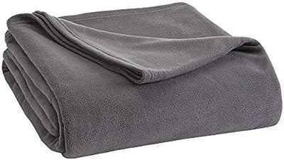 Vellux Twin Fleece Blanket, Tornado Grey by Vellux