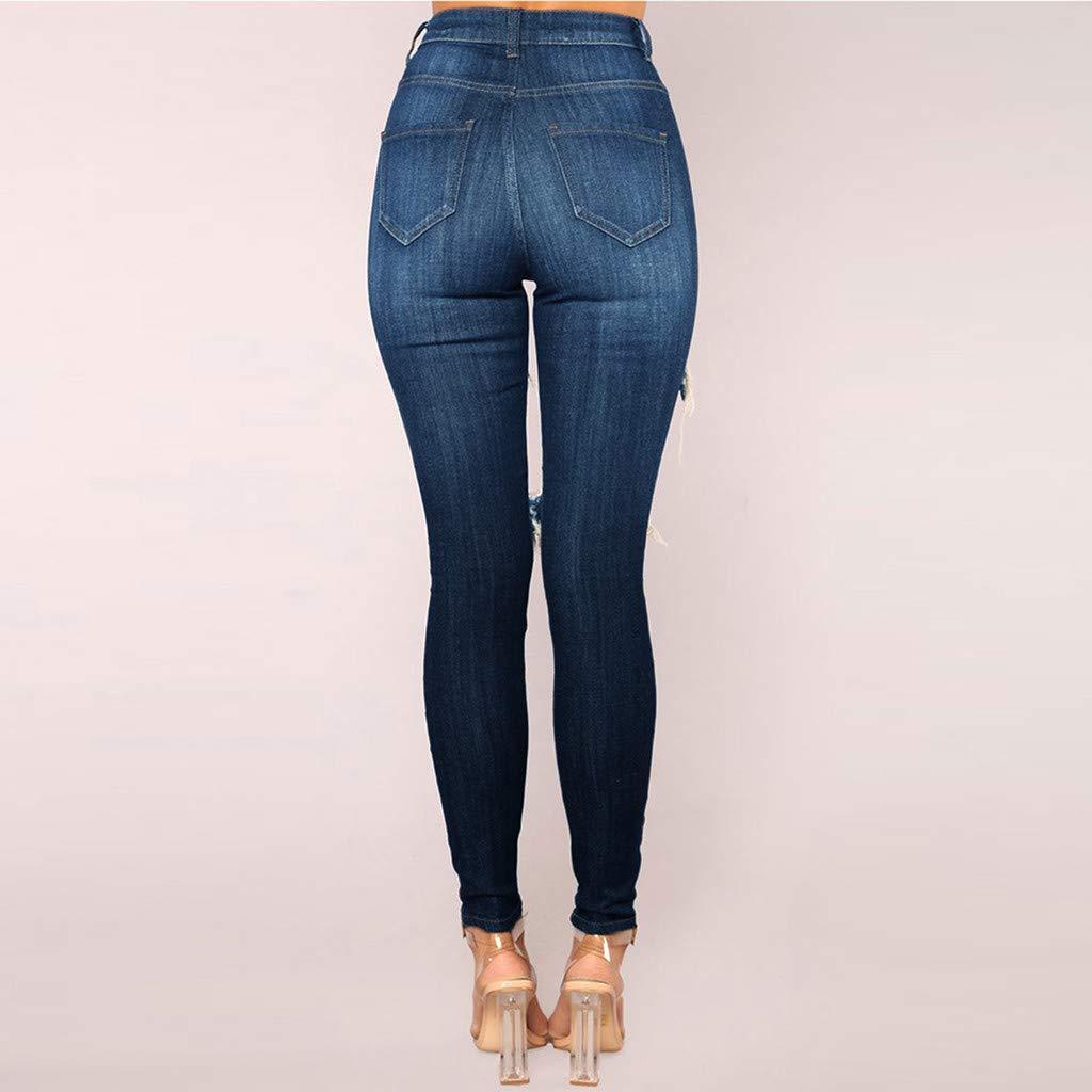 b33696b2cc Amazon.com: Hot!! Women Sexy Skinny Jeans GoodLock Ladies Fashion Denim  Hole Hollow Zipper Fly Tight Pencil Pants: Clothing