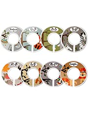 Baby Closet Dividers for Baby Clothes,Set of 8 Double Side Baby Closet Size Dividers Special Closet Organizer/Hangers Dividers