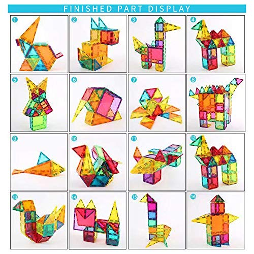 Magnetic Building Blocks 82 Pcs, Magnetic Tiles Educational Construction Toys for Boys and Girls with Giftbox (82 PCS) by Baobe (Image #6)