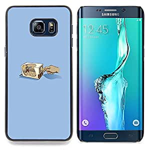 "Qstar Arte & diseño plástico duro Fundas Cover Cubre Hard Case Cover para Samsung Galaxy S6 Edge Plus / S6 Edge+ G928 (Lápiz Grinder"")"