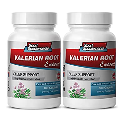 valerian root sleep support - Valerian Root Extract 4:1 125mg - Relieve Symptoms of Sleepiness and Fatigue with Premium Natural Herbal Valerian Root Supplement (2 bottles 200 capsules)