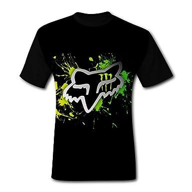 d0da145b57b41 Amazon.com  HeroTees Fox Monster Racing Mens T-Shirts 3D Galaxy Printed Tee  Shirt Large  Clothing