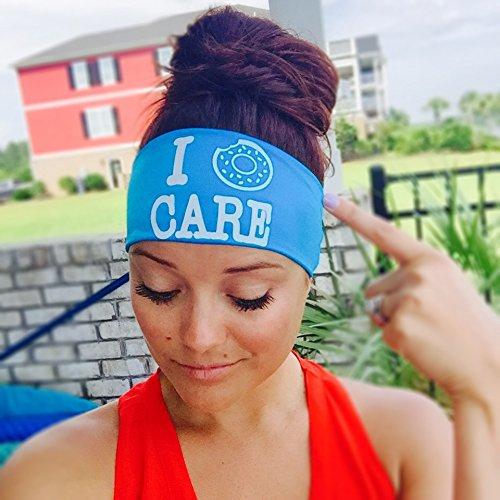 I Donut Care。ヘッドバンドbyヒッピーランナー。The # 1 Choice 。選手forスリップno、NO DRIP用ヘッドバンドランニング、ウォーキング、練習またはファッション。 One Size Highlighter Yellow B01KYZBI5G
