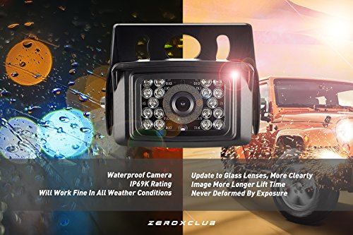 Backup Camera System Kit,SHARP CCD Chip, 100% Not Wash Up,IP69 Waterproof Rear View Camera + 7'' LCD Reversing Monitor For Truck/Semi-Trailer/Box Truck/RV (ERY01) (ERY01) by ZEROXCLUB (Image #3)