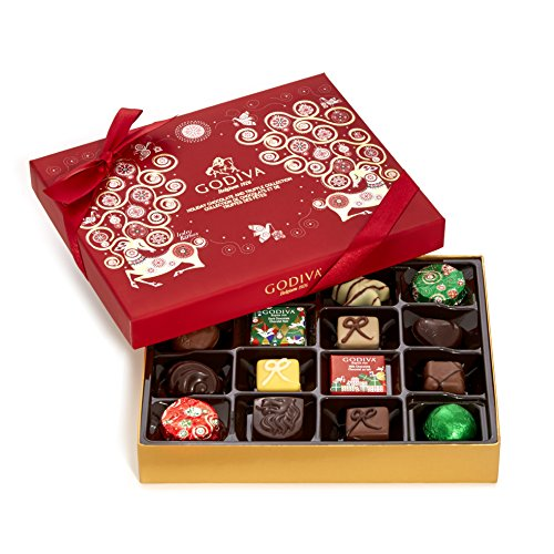 Godiva Chocolatier Assorted Chocolate Holiday Gift Box, 16 Piece (Chocolate Gifts Delivered)