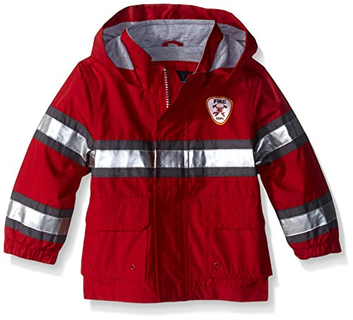 London Fog Baby Fireman Rain Slicker, Red, 12 Months