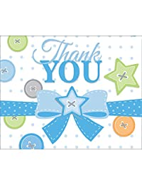 Cute as a Button Boy Thank You Notes (8 ct) BOBEBE Online Baby Store From New York to Miami and Los Angeles