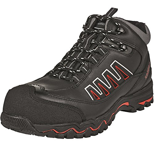 'ruNNex–Scarpe alte di sicurezza, S35321lightstar leggera stivali con lacci, colore: nero, Nero, 5321