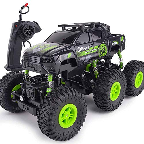 (SOWOFA Six-Wheeled Large Wireless Remote Control Off-Road Vehicle Four-Wheel Drive high-Speed Climbing Racing boy Charging Remote Control car Children's Toys)