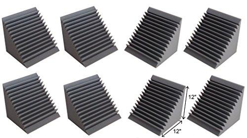 Acoustic Foam Bass Trap Corner- 8 Pack 12