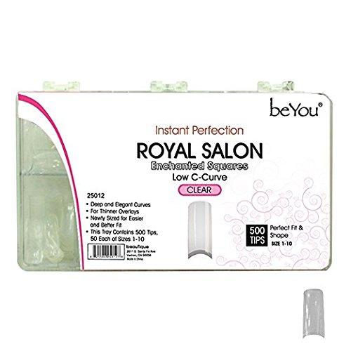 Beyou Clear Royal Salon 500 Artificial False Nail Tips 10Sizes 25012 for Nail Shop Nail Salon …