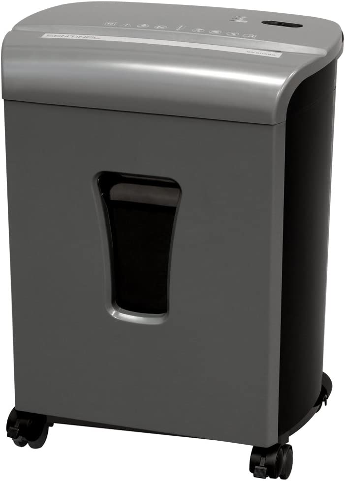 Sentinel FM102P-GUN 10-Sheet High Security Micro-Cut Paper/Credit Card Shredder with 3.5 gal Pullout Waste Basket