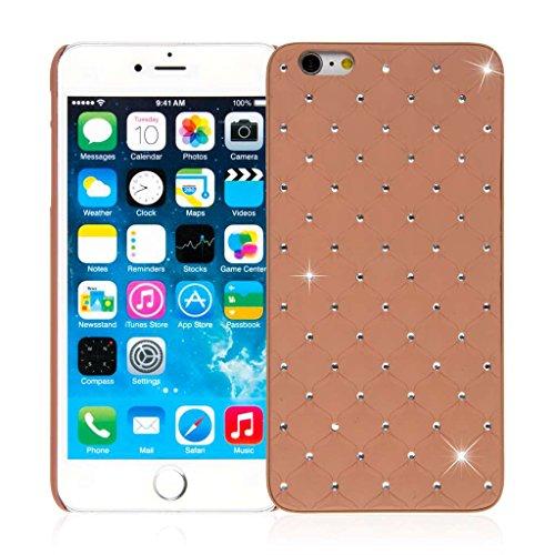 """EMPIRE GLITZ Slim-Fit Case Étui Coque for Apple iPhone 6 Plus 5.5"""" - Bling Accent Cognac (Films de protection écran Included)"""