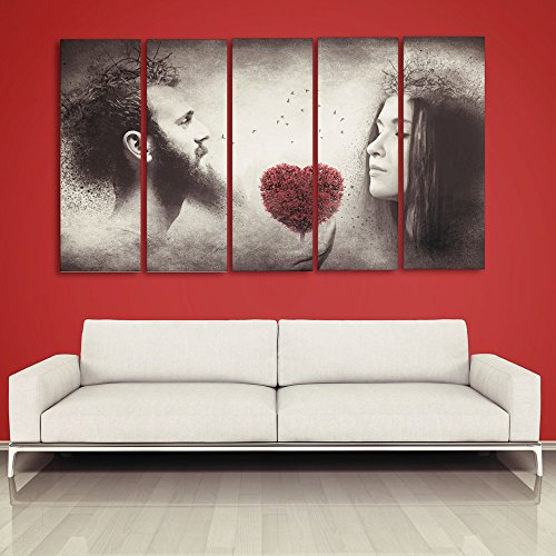 casper me multiple frames printed jesus love one faith digital wall painting 148cm x 76cm amazonin home kitchen - Multiple Photos In One Frame