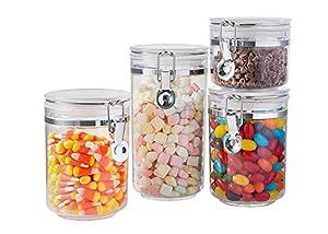 Amazoncom Saganizer Acrylic food storage containers with lids