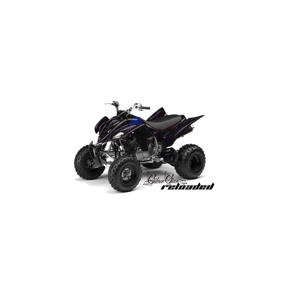 Silver Star AMR Racing Yamaha Raptor 350 ATV Quad Graphic Kit   Reloaded Blu