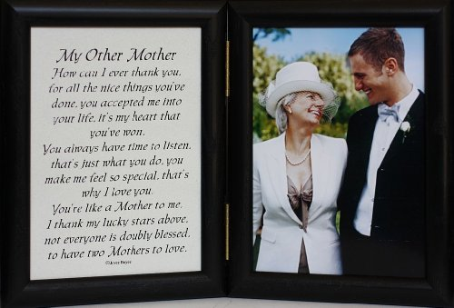 5x7 MY OTHER MOTHER Poem ~ BLACK Hinged Frame ~ Gift for...
