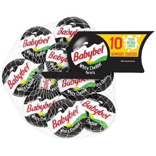 Mini Babybel White Cheddar Cheese, 7 Ounce - 12 per case.