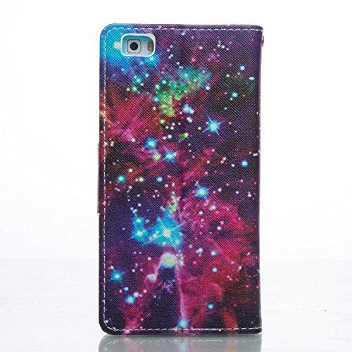 ikasus - Cartera de mano para hombre Purple Galaxy Purple Galaxy