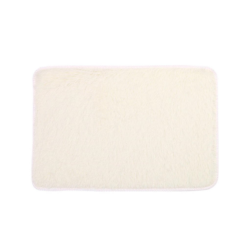 Soft Fluffy Rugs Anti-Skid Shaggy Area Rug Bedroom Carpet Floor Mat 4060Cm Dropshipping Beige 400mm x 600mm