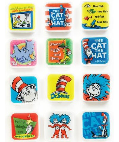 Dr. Seuss Character Erasers 60 Pack -