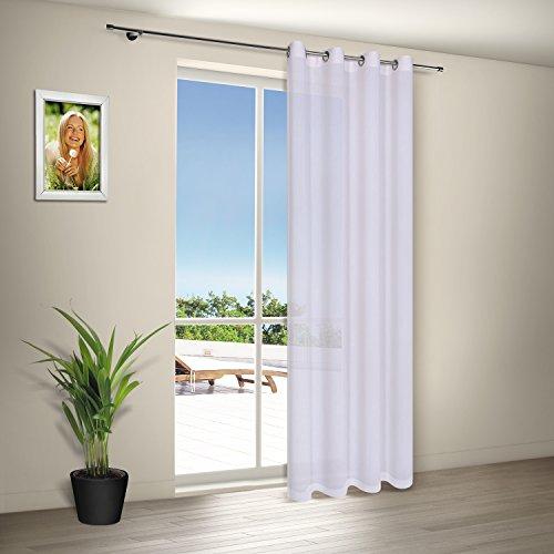 Vorhang / Gardine / Ösenschal EMMA / B/H: 140x245cm / Halbtransparente Qualität / Webware aus deutscher Herstellung (creme)