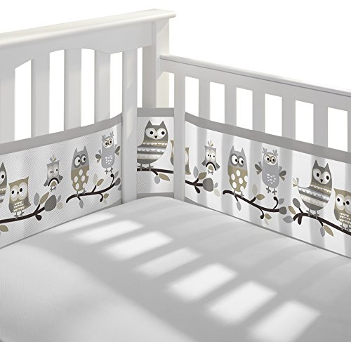 Easy Crib (BreathableBaby Classic Owl Fun Mesh Crib Liner, Gray)