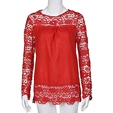 PLOT/_Home Fashion Shirt Long Sleeve Blouse Casual Jacket Lace Tops Loose T-Shirt Cotton Clothing Chiffon Sweatshirt for Women and Girl