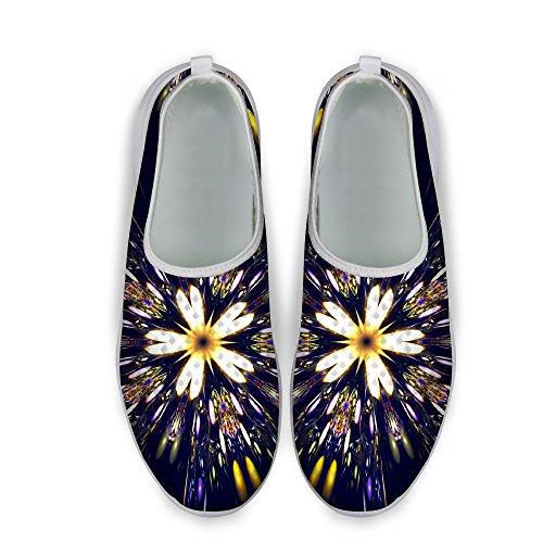 Per Te Disegni Elegante Modello Floreale Casual Maglia Confortevole Donna Scarpe Da Passeggio Viola 2