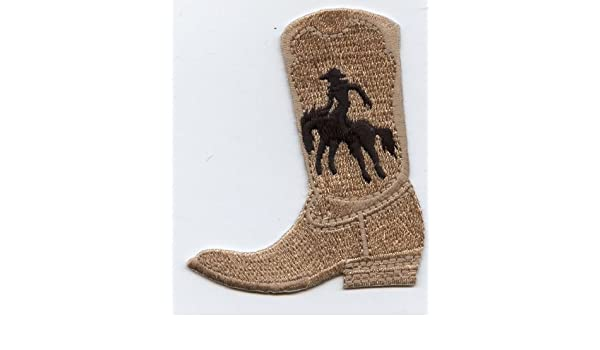 Amazon taupe black western cowboy boot iron on embroidered