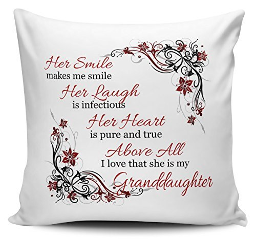 Decorative Inspirational Quotes Pillow Cover Her Smile Makes