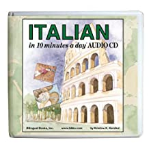 ITALIAN in 10 minutes a day AUDIO CD Wallet - Library Edition