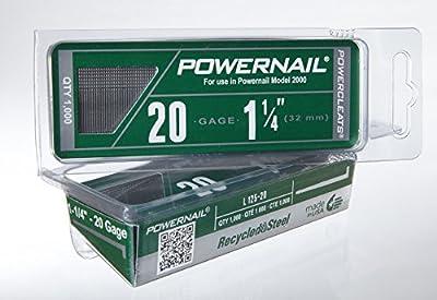 "Powernail 20ga 1-1/4"" HD L Cleat Flooring Nail"